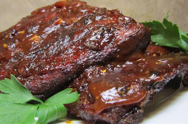 costine di maiale alla griglia con salsa barbecue - Come Cucinare Le Puntine Di Maiale